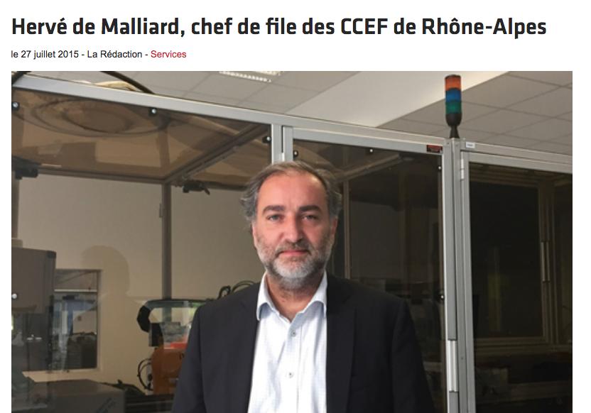 Hervé de Malliard chef de file des CCEF de Rhône-Alpes