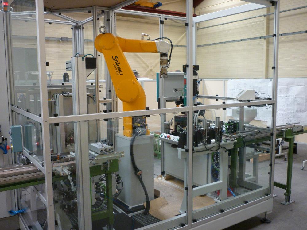 Cellule de dévracage robotisée