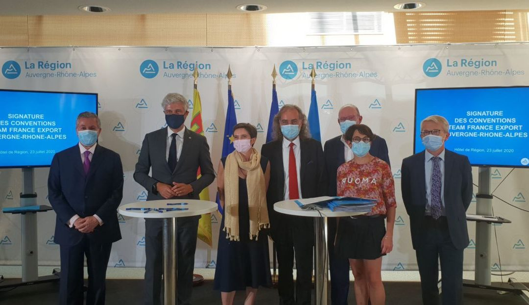 Région Auvergne – Rhône-Alpes – Signature de la convention Team France Export