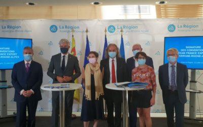 Région Auvergne – Rhône-Alpes – Signature de la convention Team France Export
