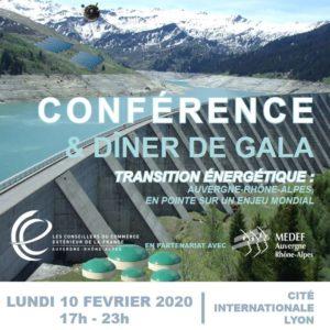 Conférence et diner de Gala sur la transition énergétique en AUvergne - Rhône-Alpes
