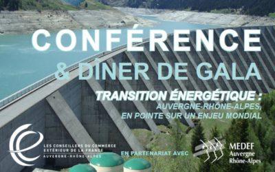 Conférence sur la transition énergétique avec Les Conseillers du Commerce extérieur de France