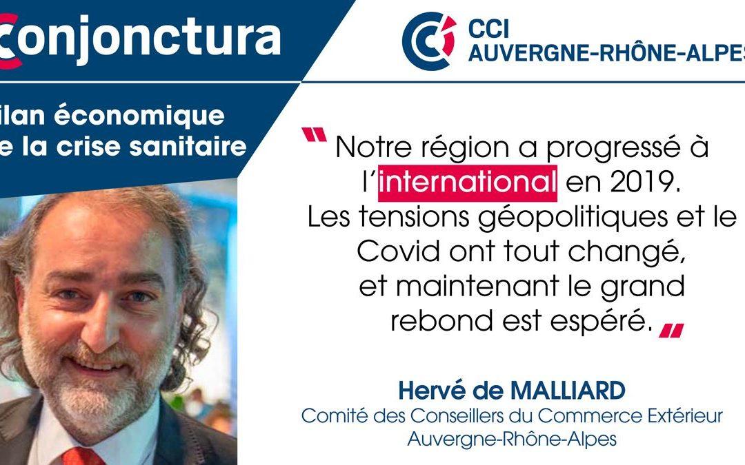 Interview de Hervé de Malliard pour Conjonctura - CCI Auvergne - Rhône-Alpes