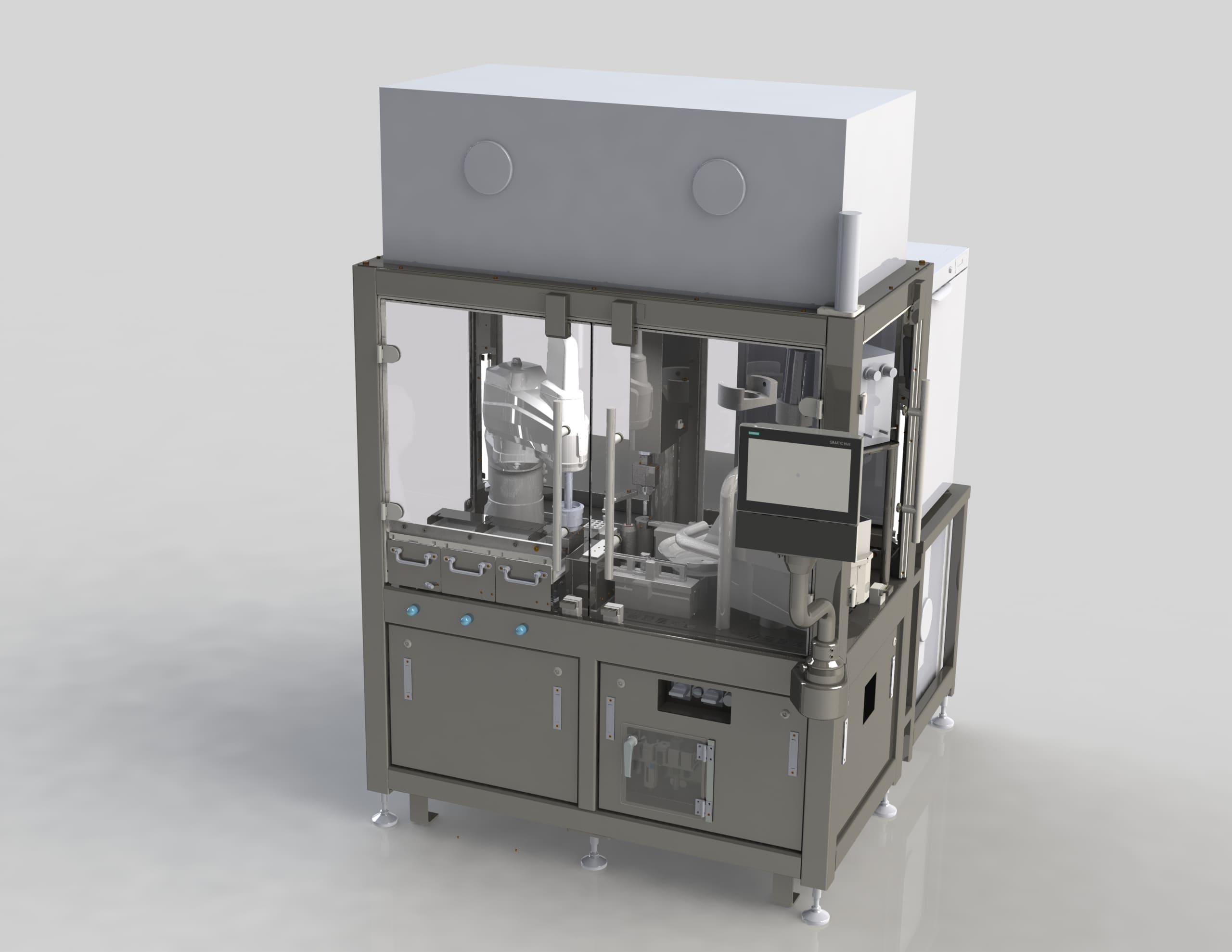 Machine de répartition pour tubes de diagnostics - Rendu 3D