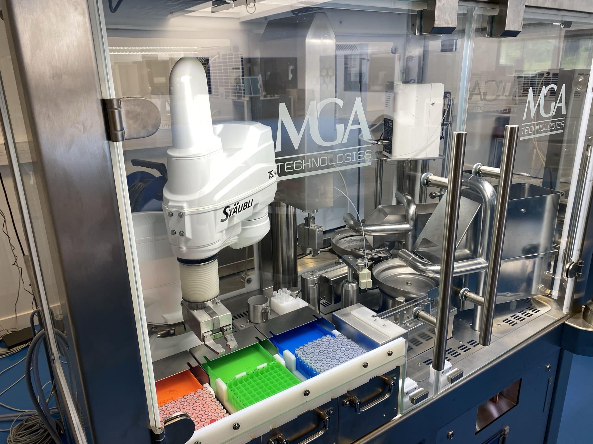 Machine de répartition pour tubes de diagnostics - Vue Intérieure